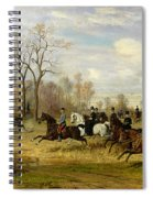 Emperor Franz Joseph I Of Austria Hunting To Hounds With The Countess Larisch In Silesia Spiral Notebook