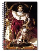 Emperor Napoleon I On His Imperial Throne Spiral Notebook
