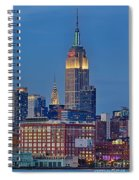 Empire And Chrysler Buildings Spiral Notebook