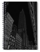 Empire Nyc White On Black Spiral Notebook