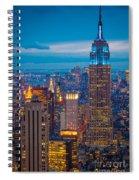 Empire State Blue Night Spiral Notebook