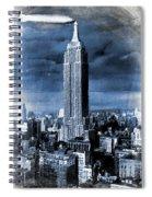 Empire State Building Blimp Docking Blue Spiral Notebook