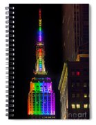 Empire State Building Lit For Gay Pride Spiral Notebook