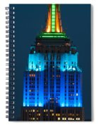 Empire State Building Lit Up At Night Spiral Notebook