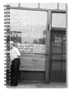 Employment Bureau, 1937 Spiral Notebook
