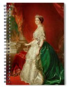 Empress Eugenie Of France 1826-1920 Wife Of Napoleon Bonaparte IIi 1808-73 Oil On Canvas Spiral Notebook