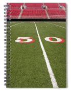 Empty American Football Stadium 50 Yard Line Spiral Notebook