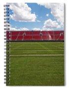 Empty American Football Stadium Spiral Notebook