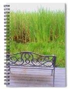 Empty Bench Spiral Notebook