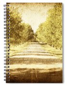 Empty Road Spiral Notebook