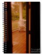 Empty Rocking Chair Spiral Notebook