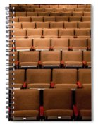 Empty Theater Chairs In Ventura Arts Spiral Notebook