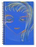 En Blue Spiral Notebook