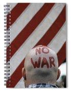 War Protest Spiral Notebook