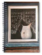Enamel And Lace Spiral Notebook