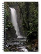 Encantada Waterfall Costa Rica Spiral Notebook