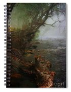 Enchanted River In The Mist Spiral Notebook
