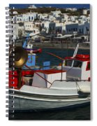 Enchanted Spaces Mykonos Greece 1 Spiral Notebook