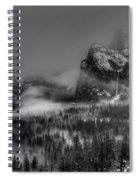 Enchanted Valley In Black And White Spiral Notebook