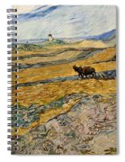 Enclosed Field With Plowman  Spiral Notebook