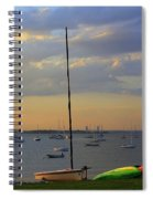 End Of Day At The Bay Spiral Notebook