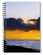 End Of Day On The Pacific Spiral Notebook