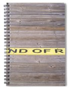 End Of Ramp Spiral Notebook