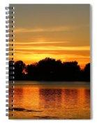 End Of Summer Sunset Spiral Notebook
