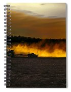 End Of The Day In The Field Spiral Notebook