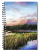 End Of The Day - Landscape Art Spiral Notebook