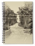 End Of The Road Merged Image Spiral Notebook