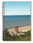 End Of The Season At Wendt Beach Park Spiral Notebook