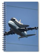Endeavour Over Moffett Field Spiral Notebook