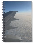 Endless Cotton Cloud Under The Wing Spiral Notebook