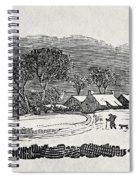 Endpiece, Late 18th Or Early 19th Century Wood Engraving 99;landscape; Winter; Figure; Snow; Snowy; Spiral Notebook