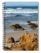 Energizing Seascape At Spanish Bay Spiral Notebook