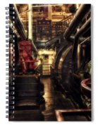 Engine Room Queen Mary 02 Sepia Spiral Notebook