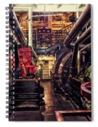 Engine Room Queen Mary 02 Spiral Notebook