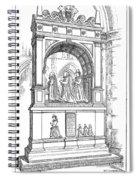 England Church Monument Spiral Notebook