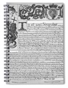 England Trade Charter Spiral Notebook