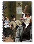 English Bulldog Art - The Latest News Spiral Notebook