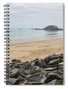 English Channel Beach Spiral Notebook
