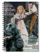English Cocker Spaniel Art - A Streetcar Named Desire Spiral Notebook