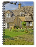 English Cottage Spiral Notebook