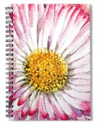 English Daisy Spiral Notebook