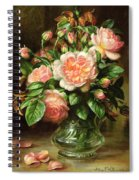 English Elegance Roses In A Glass Spiral Notebook