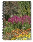 English Garden In Summertime Spiral Notebook