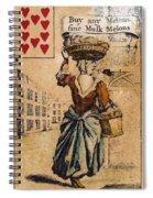 English Playing Card, C1754 Spiral Notebook