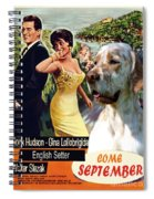English Setter Art Canvas Print - Come September Movie Poster Spiral Notebook