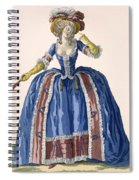 English Style Hooped Dress In Electric Spiral Notebook